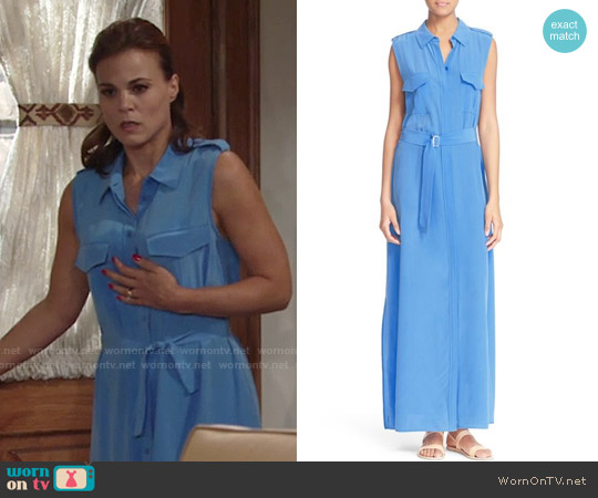 Equipment Major Silk Maxi Dress worn by Gina Tognoni on The Young & the Restless