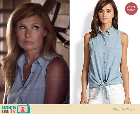 Equipment Mina Chambray Shirt worn by Connie Britton on Nashville