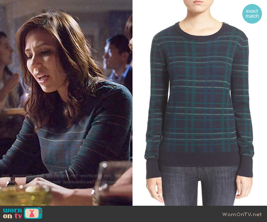 Equipment Ondine Sweater worn by Michaela Conlin on Bones