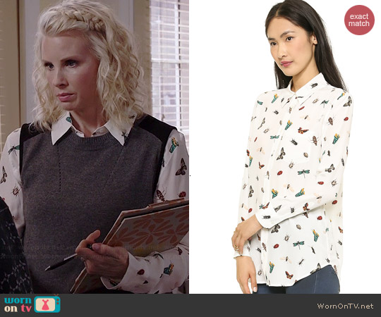 Equipment Reese Blouse in Nature worn by Monica Potter on Parenthood