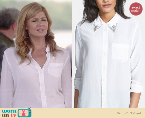 Equipment Reese Embellished Collar Blouse worn by Connie Britton on Nashville