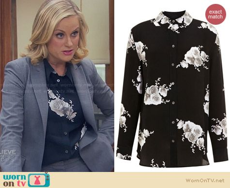 Equipment Reese Floral Shirt worn by Amy Poehler on Parks and Rec