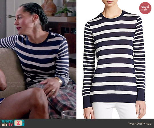 Equipment 'Shane' Nautical Stripe Sweater worn by Tracee Ellis Ross on Blackish