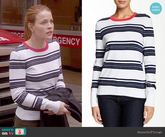 Equipment Shane Sweater worn by Katie Leclerc on Switched at Birth