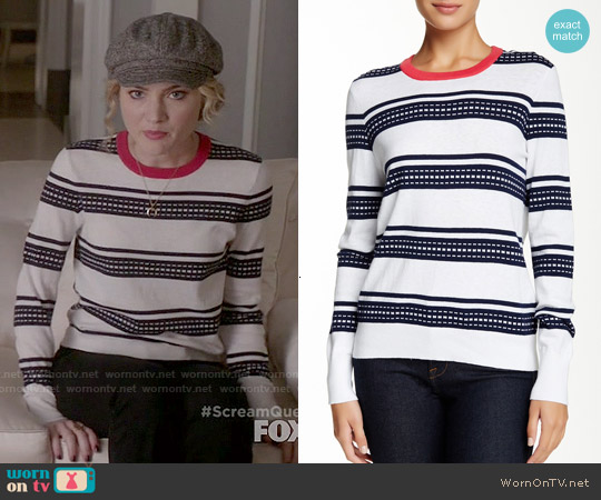 Equipment Shane Striped Sweater worn by Skyler Samuels on Scream Queens