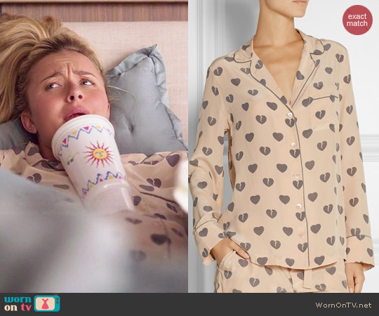 Equipment Signature Heart Print Pajamas worn by Hayden Panettiere on Nashville