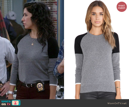 Equipment Sloan Colorblock Sweater worn by Stephanie Beatriz on Brooklyn 99