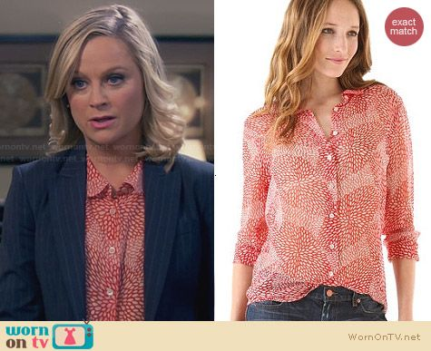 Equipment Sophie Chysanthemum Blouse worn by Amy Poehler on Parks & Rec