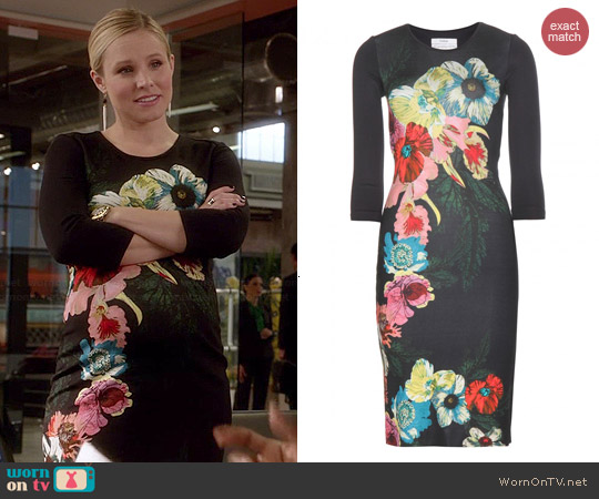 Erdem Allergra Printed Dress worn by Kristen Bell on House of Lies