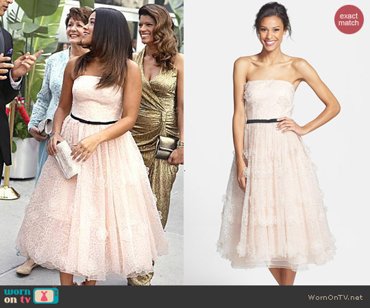Erin Fetherston Lucielle 3D Floral Organza Dress worn by Gina Rodriguez on Jane the Virgin