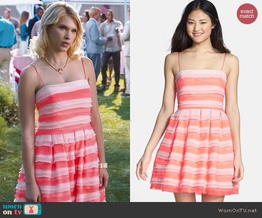 Erin Fetherston Azalea Tiered Chiffon Dress worn by Claudia Lee on Hart of Dixie