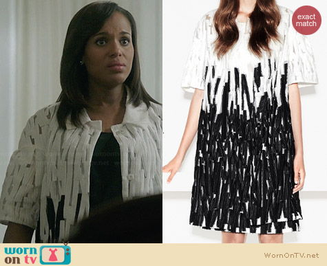 Escada Cathy Coat worn by Kerry Washington on Scandal