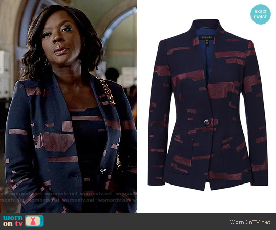 Escada Jacket worn by Annalise Keating on HTGAWM