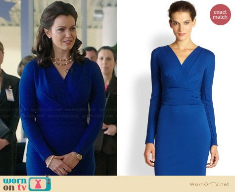 Escada Dayna Dress in Cobalt worn by Bellamy Young on Scandal