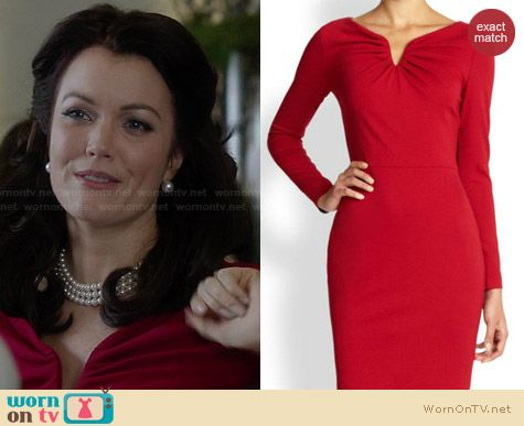 Escada Dorikes Dress worn by Bellamy Young on Scandal