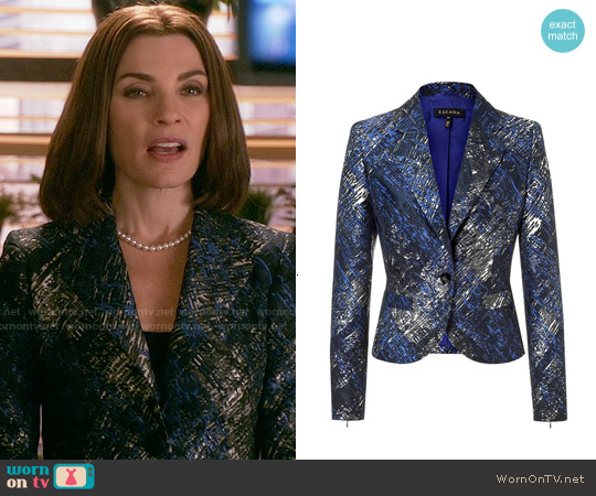 Escada Jacket Bastar worn by Julianna Margulies on The Good Wife