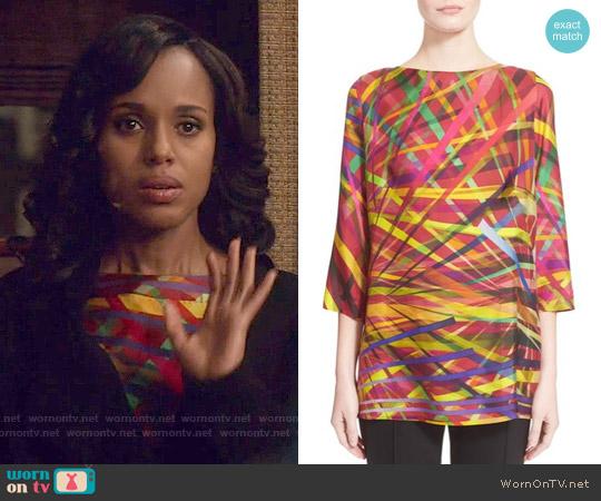 Escada 'L.A. Lights' Print Silk Tunic worn by Kerry Washington on Scandal