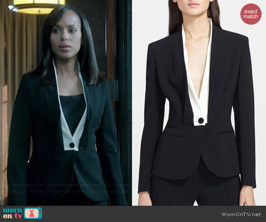 Escada Shawl Collar Tuxedo Jacket worn by Kerry Washington on Scandal