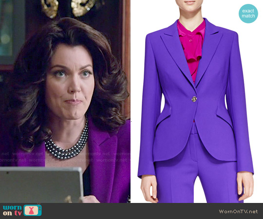 Escada Purple Wool Blazer worn by Bellamy Young on Scandal