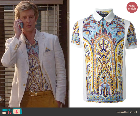 Etro Printed Polo Shirt worn by Gabrielle Mann on Revenge