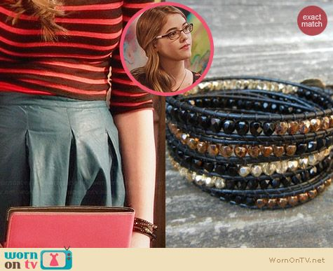 BraceletsByBetz Beaded Leather Wrap Bracelet worn by McKaley Miller on Hart of Dixie