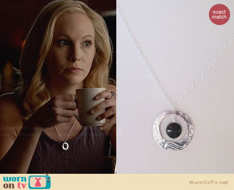 JulieEllynDesigns Dark Moon Necklace worn by Candice Accola on The Vampire Diaries