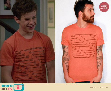 Etsy Darkcycleclothing Arrows Pattern Shirt worn by Nolan Gould on Modern Family