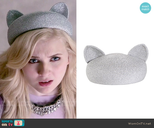 Eugenia Kim Caterina Beret with Cat Ears worn by Chanel #5 on Scream Queens