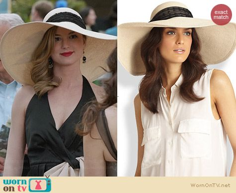 Eugenia Kim Sunny Wide Brim Hat worn by Emily Thorne on Revenge