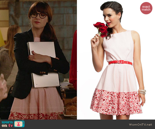Eva Franco Evette Dress in Catalan worn by Zooey Deschanel on New Girl
