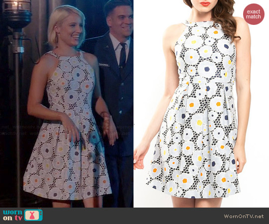 Eva Franco Nova Dress in Gardenia worn by Dianna Agron on Glee