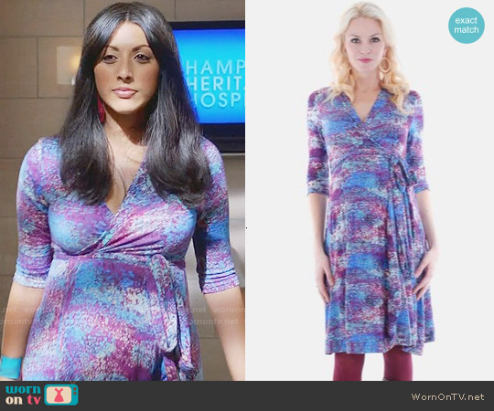 Everly Grey 'Kaitlyn' Maternity Wrap Dress worn by Reshma Shetty on Royal Pains
