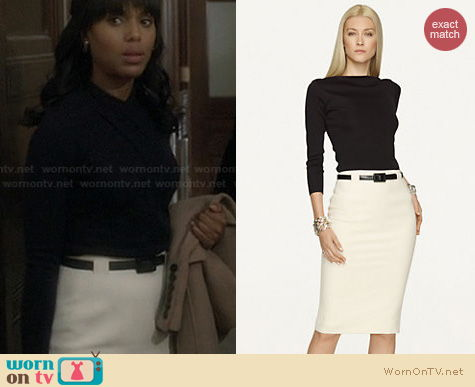Fashion of Scandal: Ralph Lauren Wool Givanna Skirt worn by Olivia Pope