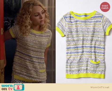 Fashion of TCD: Anthropologie Sunstrip Pullover worn by Carrie Bradshaw