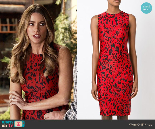 Fausto Puglisi Animal Print Fitted Dress worn by Sofia Vergara on Modern Family