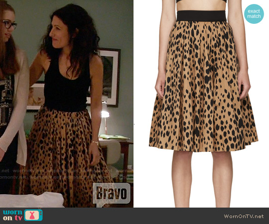 Fausto Puglisi Animal Print Pleated Skirt worn by Lisa Edelstein on GG2D