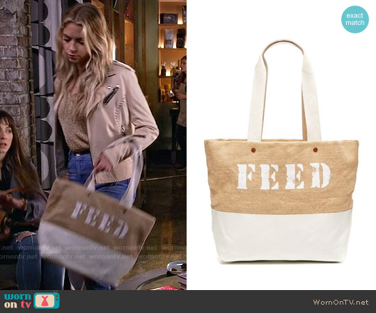 Feed Projects High Tide Tote worn by Ashley Benson on PLL