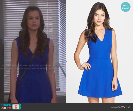 Felicity & Coco Back Cutout Fit & Flare Dress worn by True O'Brien on Days of our Lives
