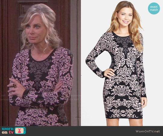 Felicity & Coco Jacquard Knit Body-Con Dress worn by Eileen Davidson on Days of our Lives