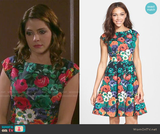 Felicity & Coco Stretch Cotton Fit & Flare Dress worn by Jen Lilley on Days of our Lives