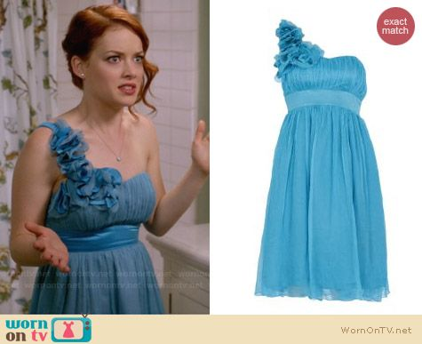 Fever London Ivy Dress in Turquoise worn by Jany Levy on Suburgatory