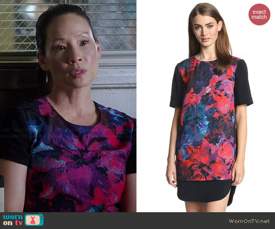 Finders Keepers Back To Basics  Dress in Rose Print worn by Lucy Liu on Elementary