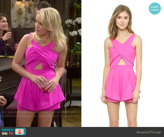 Finders Keepers Like Smoke Romper worn by Emily Osment on Young & Hungry