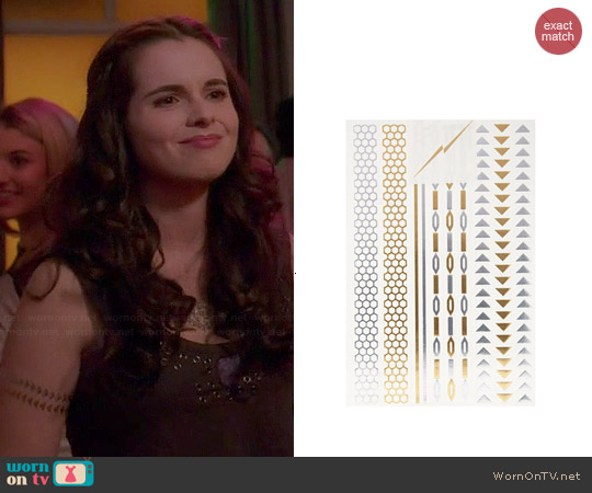 Flash Tattoos Lena Set worn by Bay Kennish on Switched at Birth