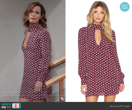 Flynn Skye Leah Dress in Ruby Daisy worn by Melissa Claire Egan on The Young & the Restless