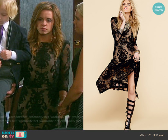 For Love & Lemons San Marcos Maxi Dress worn by Molly Burnett on Days of our Lives