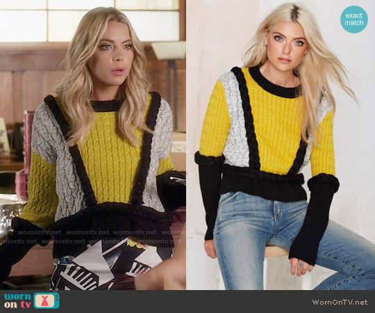 For Love & Lemons Billy Sweater worn by Ashley Benson on PLL