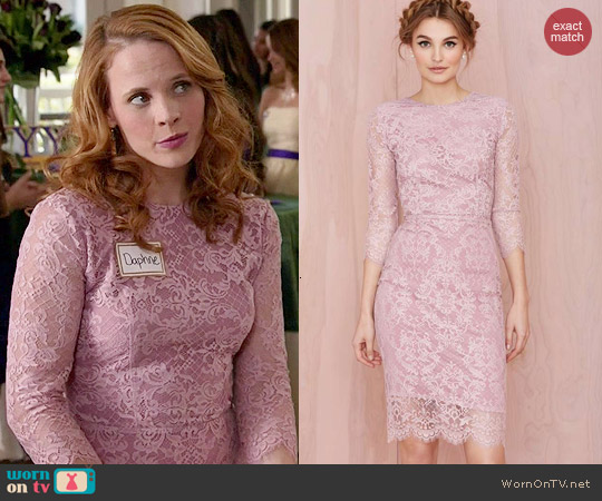 For Love & Lemons Pot Pourrie Lace Dress worn by Katie Leclerc on Switched at Birth
