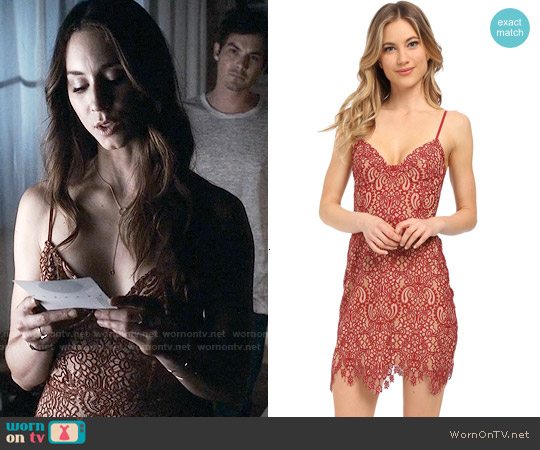 For Love & Lemons Vika Dress worn by Troian Bellisario on PLL