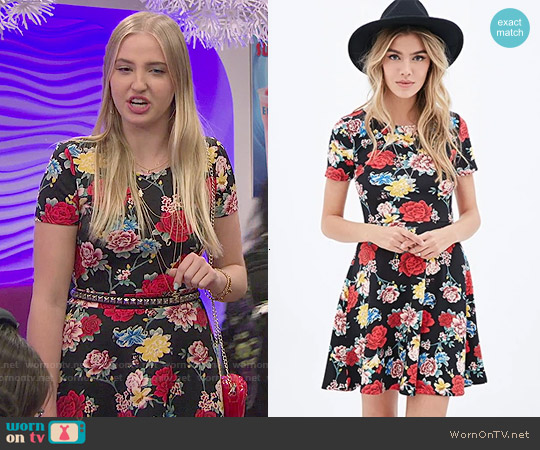 Forever 21 Floral Printed Skater Dress worn by Veronica Dunne on KC Undercover